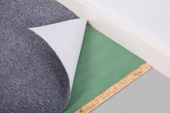 Zakończenie A Fałdowy dywan fotografia stock