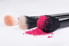 Zakończenie fachowy makijażu muśnięcie z fotografia royalty free