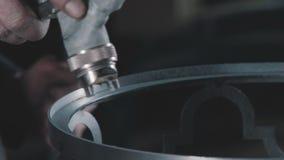 Zakończenie: farba na metalu używać kiść pistolet Dekoracyjny metalworking zdjęcie wideo