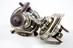 Zakończenie fluorowa Samochodowa żarówka zdjęcie royalty free