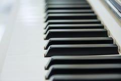 Zakończenie Fortepianowa klawiatura centred na Ab z obfitością biały sp Zdjęcie Royalty Free