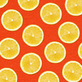 Zakończenie fotografii cytryny żółci plasterki Obrazy Stock