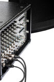 Zakończenie gitara amplifikator z dźwigarka kablem obraz royalty free