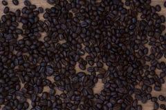 Zakończenie kawowych fasoli tło Zdjęcia Stock