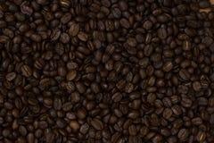 Zakończenie kawowych fasoli tło Zdjęcia Royalty Free