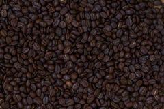 Zakończenie kawowych fasoli tło Obrazy Stock