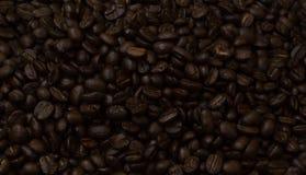 Zakończenie kawowych fasoli tło Fotografia Royalty Free