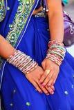 Zakończenie kobiety ` s ręki z bangels, Agra fort, Uttar Pradesh Obraz Royalty Free
