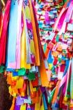 Zakończenie kolorowi życzenie faborki Obraz Stock