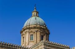 Zakończenie kopuła katedra Palermo Obraz Royalty Free