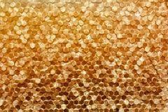 Zakończenie luksusowy złoty ścienny dekoracja wzór Zdjęcie Stock