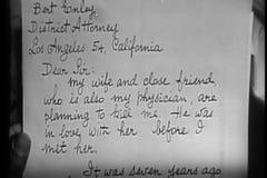 Zakończenie mężczyzna mienia list adresował adwokat zdjęcie wideo