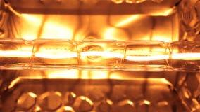 Zakończenie, migotanie żółta wolfram spirala fluorowiec żarówka zdjęcie wideo