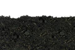 Zakończenie organicznie ziemia na białym tle zdjęcia royalty free