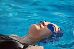 Zakończenie pływacka kobieta fotografia stock