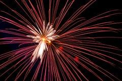 Zakończenie piękni fajerwerki Zdjęcie Royalty Free