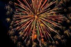 Zakończenie piękni fajerwerki Fotografia Royalty Free