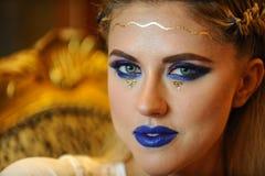 Zakończenie portret piękny Kaukaski młoda kobieta model Zdjęcie Royalty Free