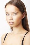 Zakończenie portret seksowna caucasian młoda kobieta z pięknym b Zdjęcia Royalty Free