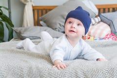 Zakończenie portreta słodki uroczy dziecko Indoors strzelał, pojęcie wizerunek Obraz Stock