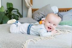 Zakończenie portreta słodki uroczy dziecko Indoors strzelał, pojęcie wizerunek Obraz Royalty Free