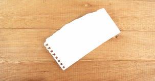 Zakończenie pusty papier zbiory wideo