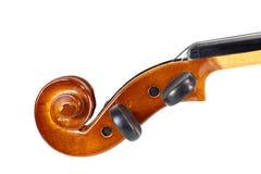 Zakończenie skrzypce głowa Zdjęcia Royalty Free