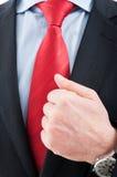 Zakończenie starsza biznesowego mężczyzna koszula i krawat obrazy stock