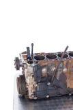 Zakończenie stary samochodowy silnik Fotografia Stock