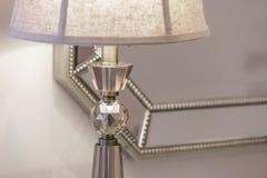 Zakończenie stołowa lampa w żywym pokoju Zdjęcie Stock