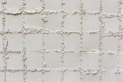 Zakończenie strzał białego kwadrata tekstury ceramiczny deseniowy tło fotografia royalty free