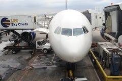 Zakończenie strzelający delta samolot Obrazy Stock