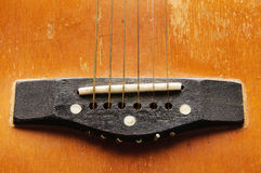 Zakończenie strzelający gitara Zdjęcie Stock