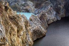 Zakończenie strzelający Kelimutu krateru jeziora Obraz Royalty Free