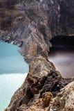 Zakończenie strzelający Kelimutu krateru jeziora Obraz Stock