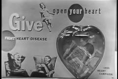 Zakończenie umieszcza pieniądze w plastikowym sercu dla kierowej choroby dobroczynności kobieta zbiory wideo