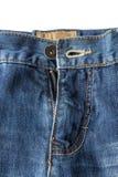 Zakończenie unzipped i rozpinający niebiescy dżinsy Zdjęcie Royalty Free