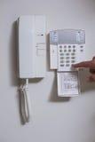Zakończenie up ścienny telefon i lista liczby Obrazy Royalty Free