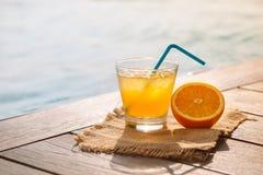 Zakończenie up śrubokrętu koktajlu alkoholu napój z sokiem pomarańczowym Zdjęcia Royalty Free