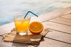 Zakończenie up śrubokrętu koktajlu alkoholu napój z sokiem pomarańczowym Fotografia Royalty Free