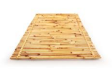 Zakończenie up bambus maty tło z ścinek ścieżką vol - 2 Obraz Stock
