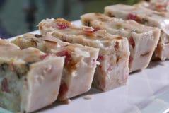 Zakończenie up Chiński taro tort na stole przy kuchnią Zdjęcie Royalty Free