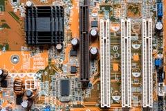 Zakończenie up elektronika obwodu deski A mainboard Główna deska, jednostki centralnej płyta główna, logiki deska, system deska l obraz stock