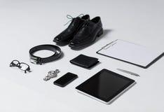 Zakończenie up formalny odzieżowy i osobisty materiał Zdjęcia Stock