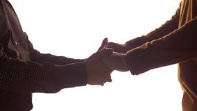 Zakończenie up męskie homoseksualne pary mienia ręki zdjęcie wideo
