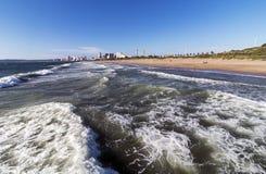 Zakończenie up Macha na linii brzegowej W Durban Południowa Afryka Zdjęcia Royalty Free