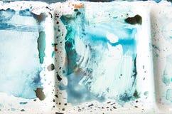 Zakończenie up mieszać studnie akwareli farby pudełko pokazuje abstrakta wzór Zdjęcia Royalty Free