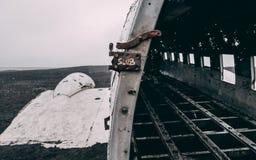 Zakończenie up płaski wrak w Iceland bez ludzi Obraz Stock