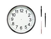 Pustego miejsca srebra zegar z ścinek ścieżkami Obraz Stock