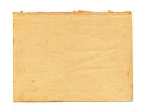 Zamyka up rocznika nutowy papier na białym tle Obrazy Royalty Free
